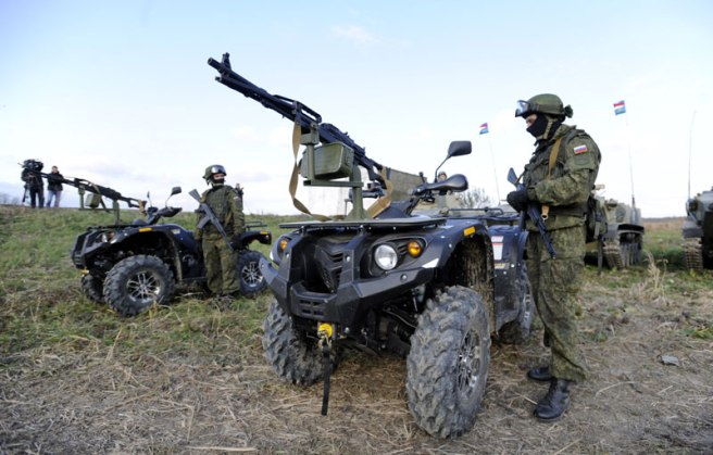 Russian army quad bikes